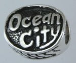 13495-Oval Ocean City Crab Bead