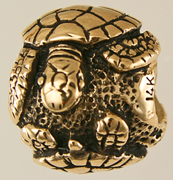 16991-Turtle Bead in 14K